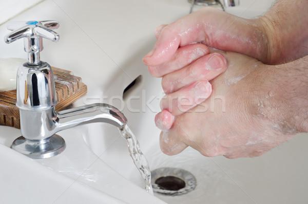 Hand Washing - Male Stock photo © frannyanne