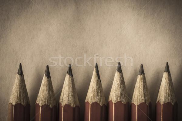 Retro Style Red Pencil Border Stock photo © frannyanne