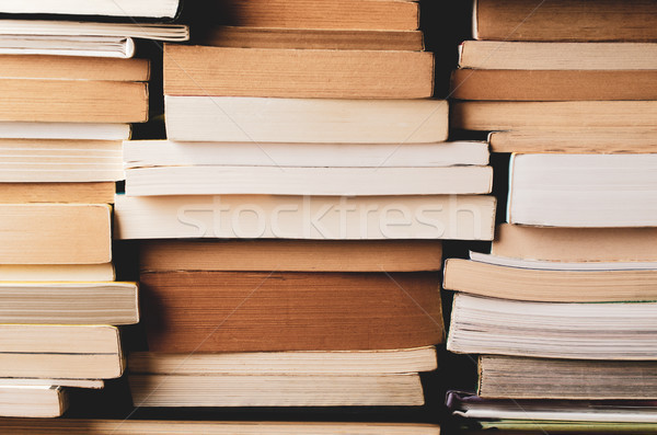 Multiple Stacks of Books Background Stock photo © frannyanne