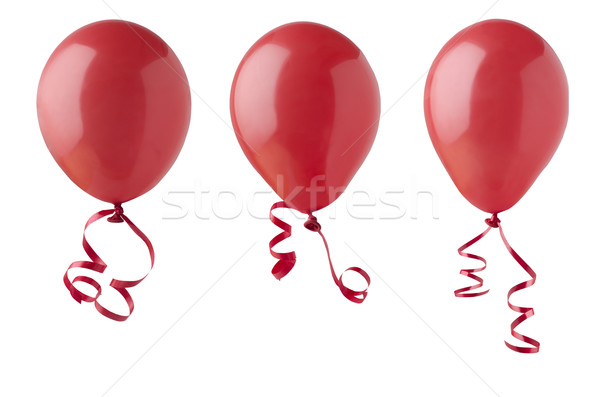Red Balloons with Ribbons  Stock photo © frannyanne