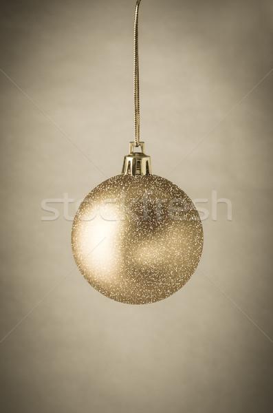 Gold glitter Weihnachten Spielerei hängen Stock foto © frannyanne