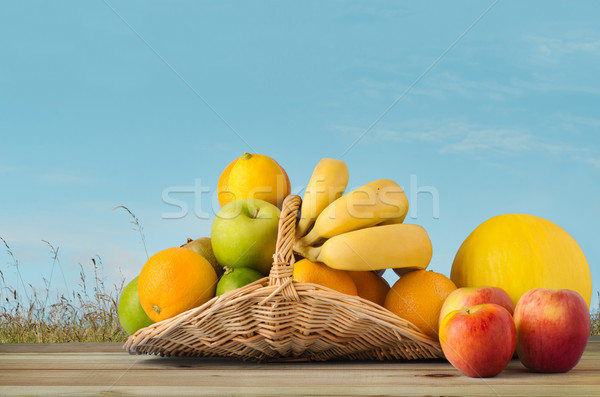 Fruit Basket under Blue Sky Stock photo © frannyanne