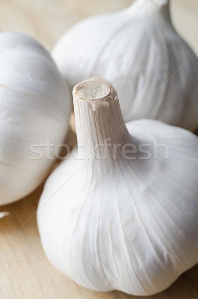 Whole Garlic Bulbs  Macro Stock photo © frannyanne