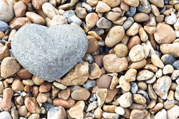 Stock photo: Heart Stone - Landscape Orientation