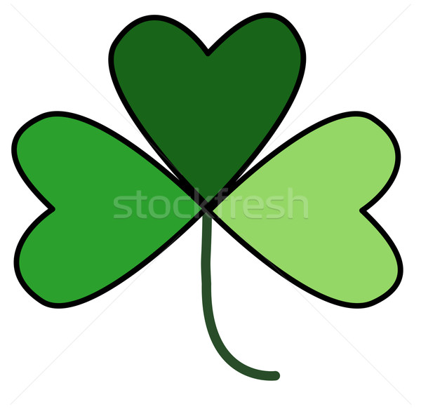 Shamrock in Three Shades of Green Stock photo © frannyanne