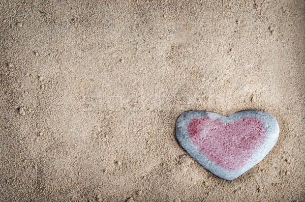 Serca kamień piasku szary ziarnisty Zdjęcia stock © frannyanne