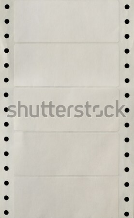 Continuous Hole Punched Strip of Printer Labels Stock photo © frannyanne