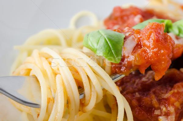 Spaghetti Sauce Fork Stock photo © frannyanne