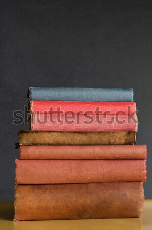 Books Stacked on Classroom Desk Stock photo © frannyanne