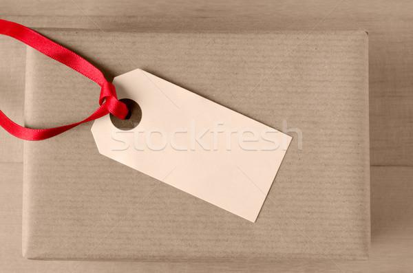 Regalo etichetta rosolare pacchetto shot pacchetto Foto d'archivio © frannyanne