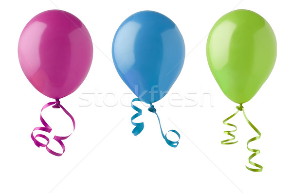 Three Party Balloons Isolated on White Stock photo © frannyanne