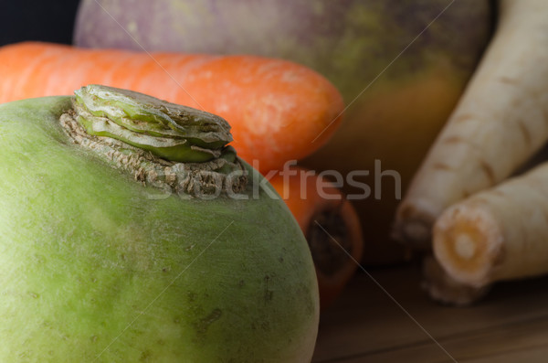 Group of Raw Root Vegetables Stock photo © frannyanne