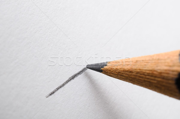Pencil Drawing a Line Macro Stock photo © frannyanne