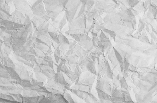 Unfolded Crumpled Paper with Creases in White Stock photo © frannyanne