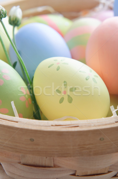 Easter Eggs in Basket Stock photo © frannyanne