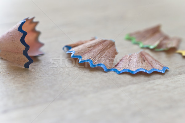 Colour Pencil Shavings Stock photo © frannyanne