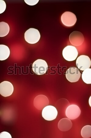 Stock photo: Red Bokeh Lights