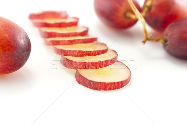 Red Grapes and Slices - Closeup Stock photo © frannyanne