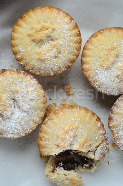 Grouped Christmas Mince Pies from Above Stock photo © frannyanne