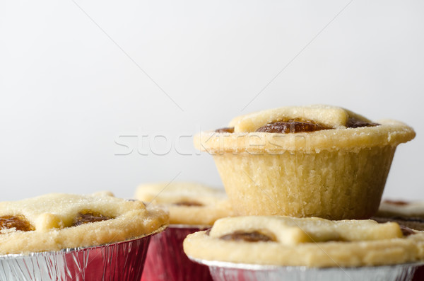 Stack of Mince Pies with Copy Space Stock photo © frannyanne