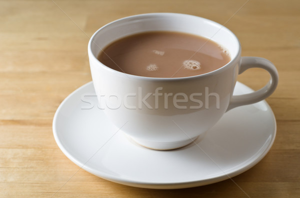 Tea Cup and Saucer on Table Stock photo © frannyanne