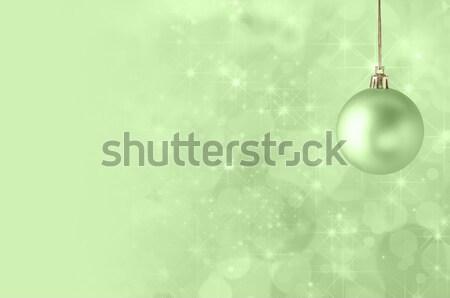 Christmas Tree Baubles on Light Green Stock photo © frannyanne