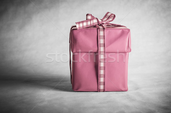 Pink Gift Box Tied with Bow Stock photo © frannyanne