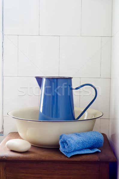 Retro Bathroom Washstand Stock photo © frannyanne