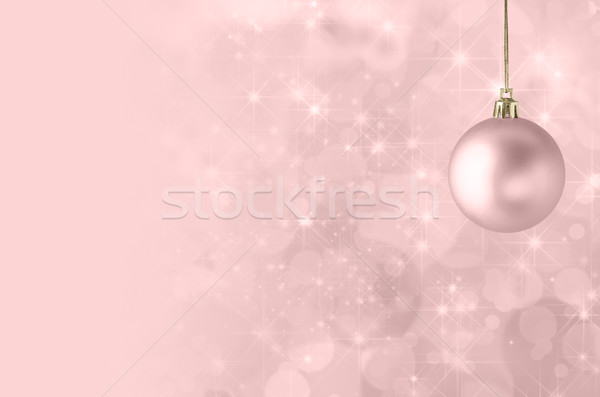 Pink Christmas Bauble Background Stock photo © frannyanne