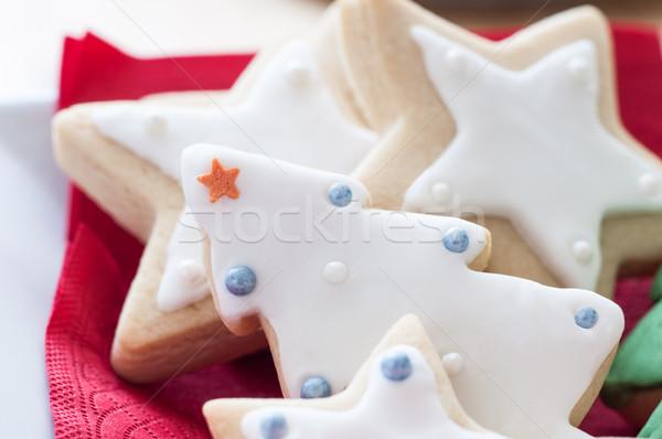 Herbatniki christmas odznaczony drzewo Zdjęcia stock © frannyanne