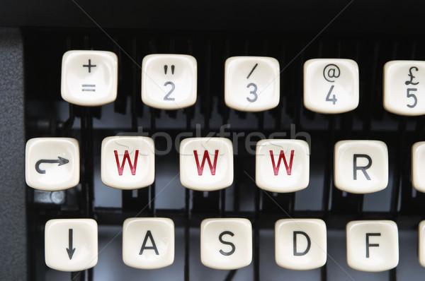 Machine à écrire vieux manuel touches trois Photo stock © frannyanne