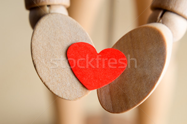 Hands Holding Valentines Heart Stock photo © frannyanne
