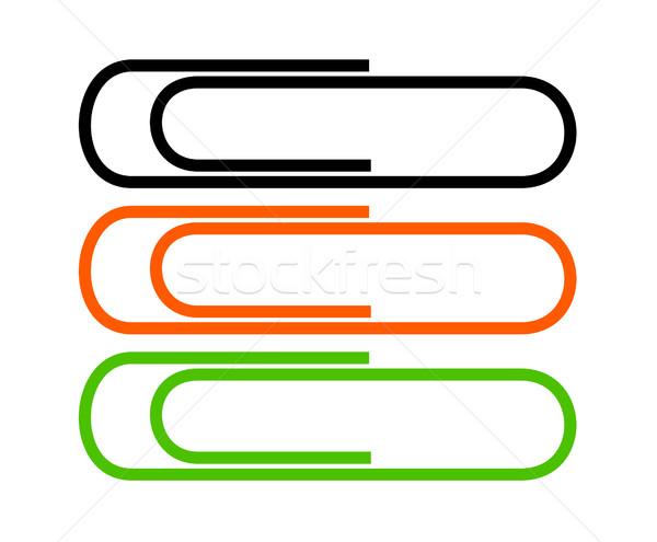 Ilustracja trzy pionowy line czarny pomarańczowy Zdjęcia stock © frannyanne