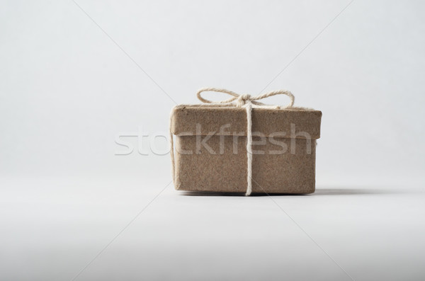 Small Brown Package Tied with String Stock photo © frannyanne