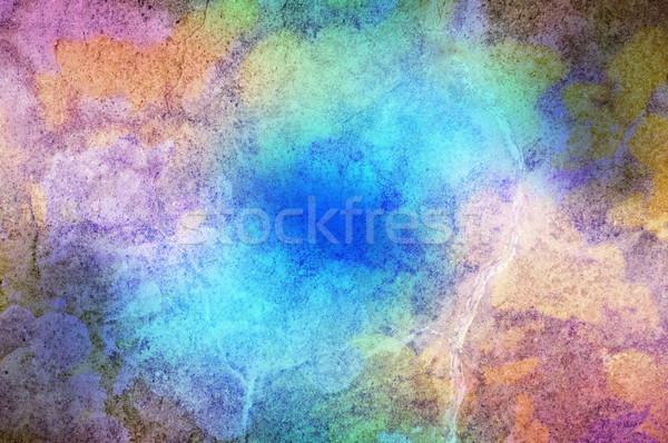 Stone Texture with Multicoloured Paint Effect Stock photo © frannyanne
