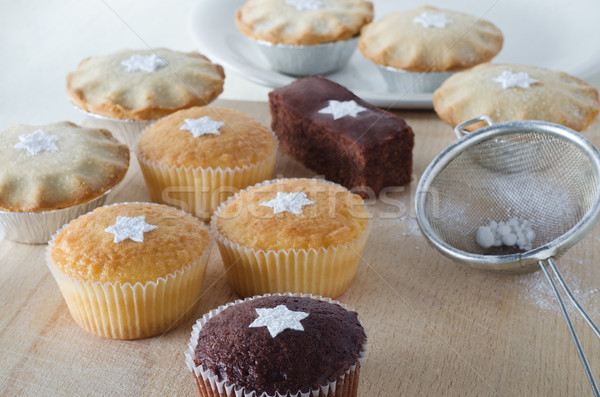 Christmas Cakes and Mince Pies Stock photo © frannyanne