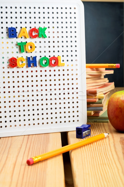 Back To School Sign Stock photo © frannyanne