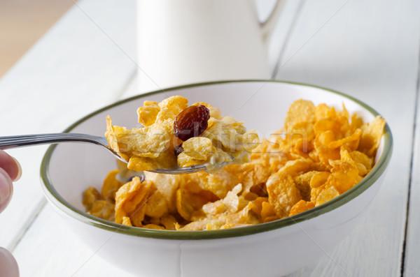 Cornflake Breakfast Setting Stock photo © frannyanne