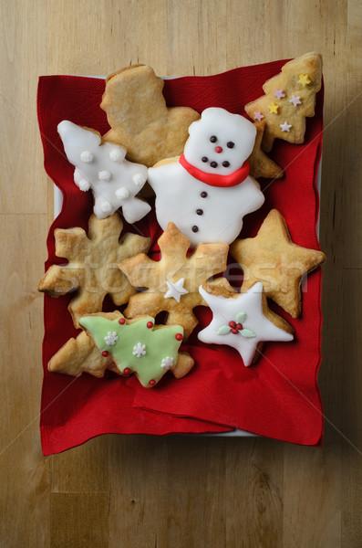 Natale biscotto sopra shot varietà Foto d'archivio © frannyanne