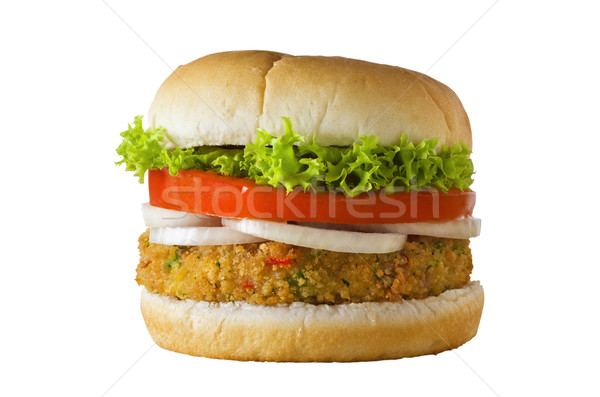 Veggie Burger Isolated Stock photo © frannyanne
