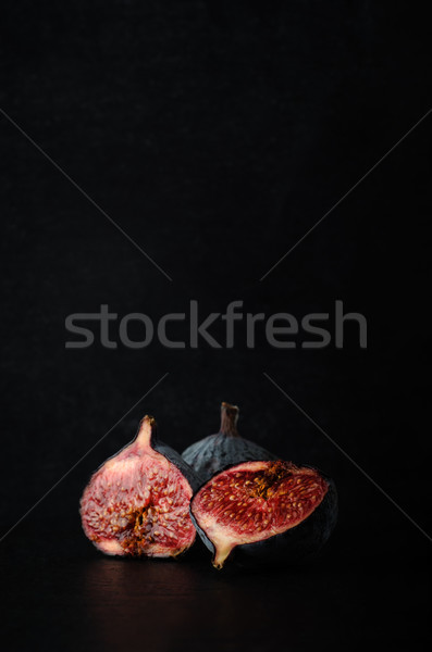 Cut Figs Composition on Black Slate Stock photo © frannyanne