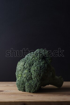 Head of Broccoli on Wooden Table Stock photo © frannyanne