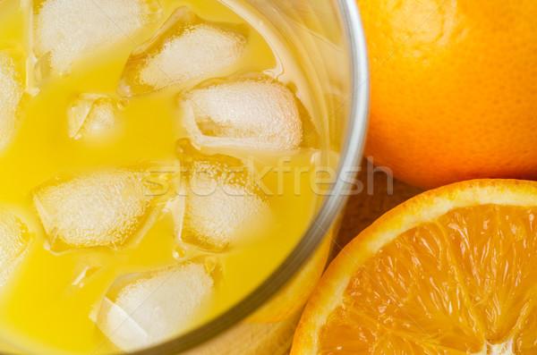 Vidro laranjas tiro Foto stock © frannyanne