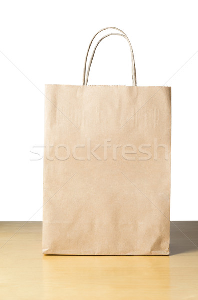 Paper Carrier Bag on Table Stock photo © frannyanne