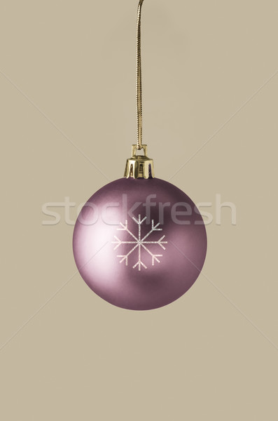 Damson Christmas Bauble with Glittery Snowflake Stock photo © frannyanne