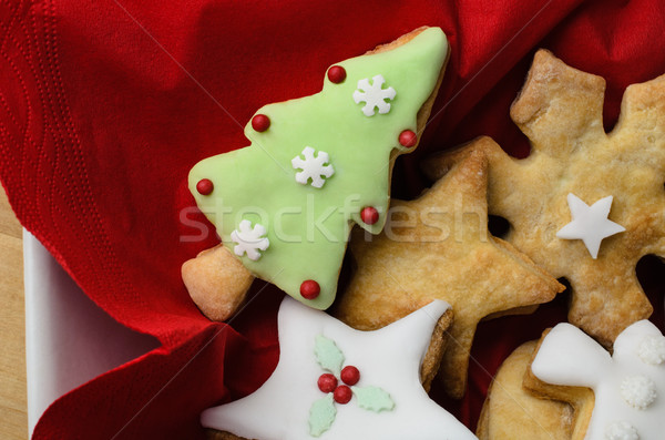 Christmas Biscuit  Selection in Bowl from Above Stock photo © frannyanne
