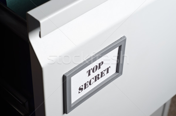 Foto stock: Superior · secreto · archivo · cajón