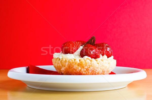 Strawberries and Cream Cake Stock photo © frannyanne