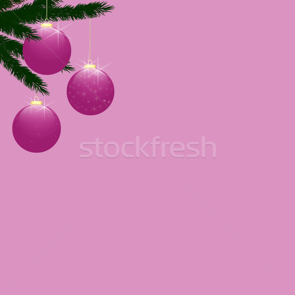 Christmas Tree Baubles on Pink Stock photo © frannyanne