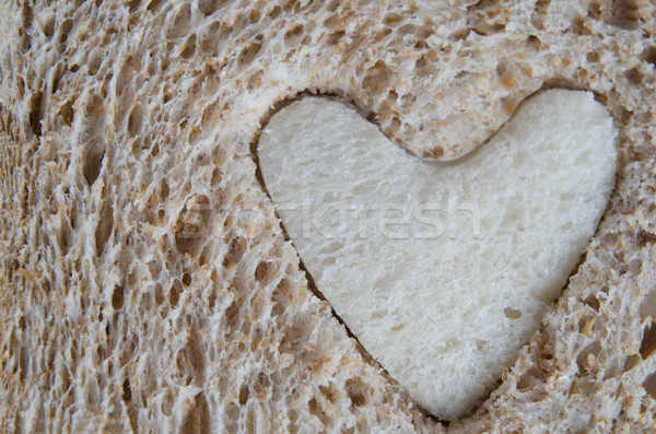 Close up of Brown Bread with White Heart Stock photo © frannyanne